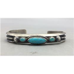 3 Stone Turquoise Bracelet