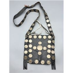 Vintage Bandolier Bag with Silver Coin Buttons