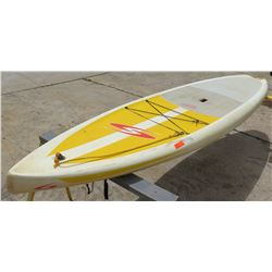 """Surftech SUP Stand Up Paddle Board White & Yellow R. French 11""""6'x29""""x5.25"""" 202 IL"""