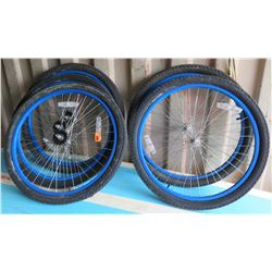 Qty 5 Bike Rims with Tires (3 Fronts & 2 Rears), Excel (57-559) 26x2.125 E-702-75