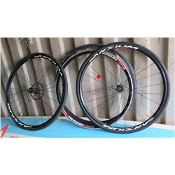 Qty 2 Road Bike Rims and 4 Tires, Continental Mavic AKSIUM One Disc DT Swiss RR585