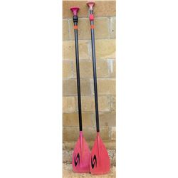 Qty 2 Adjustable Surftech SUP Stand Up Paddle