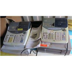 Qty 2 Cash Registers - Casio TE-2200 & PCR-T2000