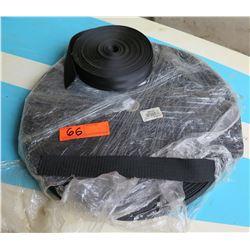 "Qty 2 Rolls 1.5"" Heavy Polypro Black Webbing P001-1 1"