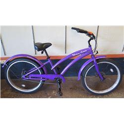 "Bahama Cruisers 26"" Single-Speed Fat Tire Bike w/ Upgraded Components, Purple"