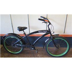 "Bahama Cruisers 26"" Single-Speed Fat Tire Bike w/ Upgraded Components, Black"