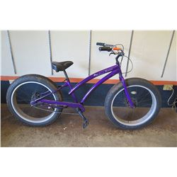 Bahama Cruisers Fat Tire Bike, 3-Speed, Purple