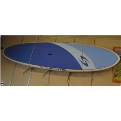 """New & Unused Surftech SUP Stand Up Paddle Board, White & Blue, R. French 10""""6'x32""""x5"""""""