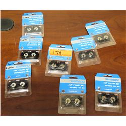 Qty 8 New Shimano Misc Size Pulley Sets RD-6800/6870, RD-5800, etc
