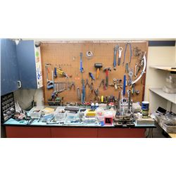 Large Lot of Bike Repair Tools - Tool Boxes w/ Saws, Wrenches & Hand Tools, Bike Parts, Bike Repair