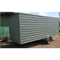 Single-Axle Storage Trailer, Built on Caulkins Galvanized Boat Trailer Chassis, Approx. 16' Long (Pl