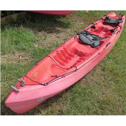 Ocean Kayak Zest Two Exp Red Tandem 2-Person Expedition Kayak w/ Rudder