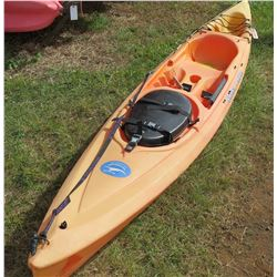 Ocean Kayak Scupper Pro Orange Single 1-Person Kayak (rudder foot track needs repair)