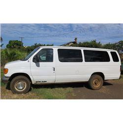 2007 Ford E-350 Passenger Van, Lic. 242KBN, 108100 Miles (Runs & Drives, See Video)