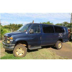 2009 Ford 4X4  E-350  Passenger Van, Lic. 994KBN, 96569 Miles (Runs & Drives, See Video)