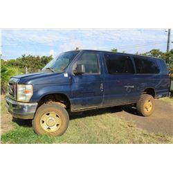 2009 Ford 4X4 E-350 Passenger Van, Lic. 995KBN, 105295 Miles (Runs & Drives, See Video)
