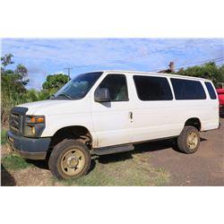 2010 Ford 4x4 Passenger Van, Lic. 569KBP, 69595 Miles (Runs & Drives, See Video)