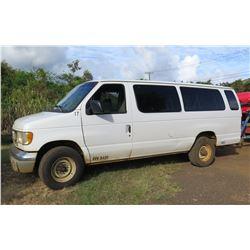 2001 Ford Passenger Van, Diesel, Lic. 340KBK, 147121 Miles (Runs & Drives, See Video)