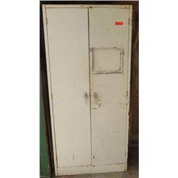 Metal 2 Door Storage Cabinet w/ 5 Shelves - Type 1, Class A, Mfg 1961