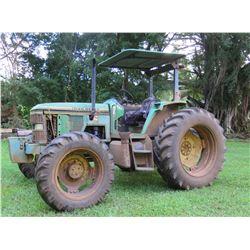 John Deere Tractor, 8943 Hours (Runs & Drives, PTO Inoperable)