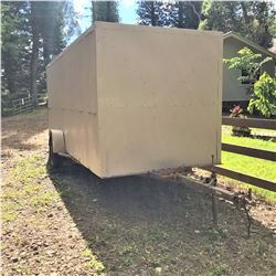 Single-Axle Enclosed Box Trailer, Built on Caulkins Galvanized Boat Trailer Chassis, Approx. 16' Lon
