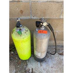 Qty 2 Scuba Tanks (Was Used to Fill Bike Tires)