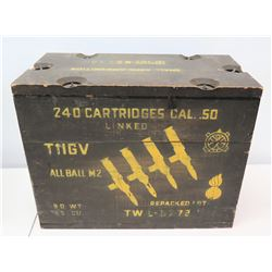 Ammo Can for 240 Cartridges Cal .50 TIIGV All Ball M2
