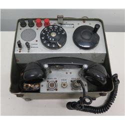 SATT Telegraph FLYGVAPNET Tillsyn MVG Tele Field Telephone