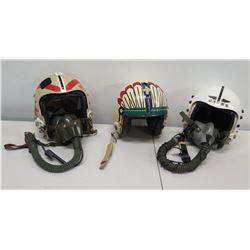 Qty 3 Fighter Pilot Helmets - VFI, USMC & Unknown