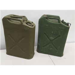Qty 2 Military Jerry Cans for Gas