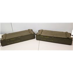 Qty 2 Army Wooden Boxes for 30 CAL Ammo