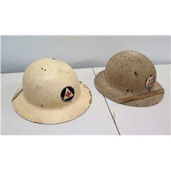 Qty 2 WWII Air Raid Helmets