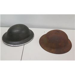 Qty 2 WWI Helmets