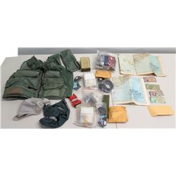 NICHY Survival Gear - Vest, Viet Nam Map, Currency, Pocket Radio, etc
