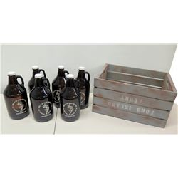 "Qty 6 ""Home of the Brave Beverage Company"" Bottles & Ford Island Ferry Box"