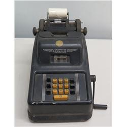Underwood Sundstrand Portable 10 Key Manual Adding Machine
