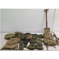Backpacks, Ammo Pouches & Belt, Army Air Helmet, Pistol Holder, etc