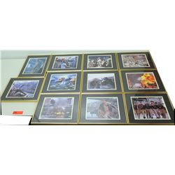 Qty 11 Framed & Matted Military Art Prints (from movie 'Pearl Harbor')