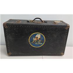 "White Star Line Adriatic Suitcase w/ ""Sea Bees"" Sticker"