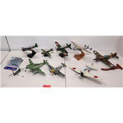Qty 8 Model Planes - Flying Tigers Shark Mouth, B-377 Super Guppy, etc