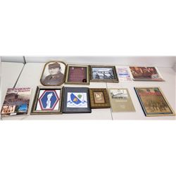442nd Collection - Framed Images & Historical Album, Books, Media, etc