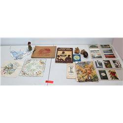 Multiple Postcards, Hawaiian Publications, Hula Handkerchief, etc