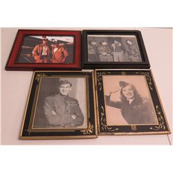 Qty 4 Framed Images - Home of the Brave, Saluting Girls, etc (some autographed)