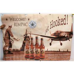 """Welcome RimPac Banner """"Home of the Brave, Honolulu, HI"""""""