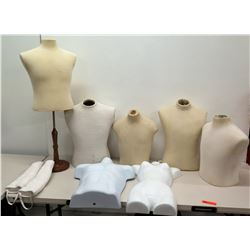 Qty 7 Mannequin Busts Body Forms
