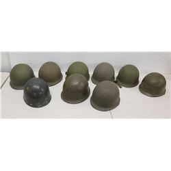Qty 9 Helmets