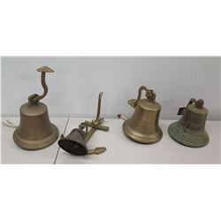 Qty 4 Bells - SS OHAU Stamped 1892, Pearl Harbor, 2000 & Hanging Bell