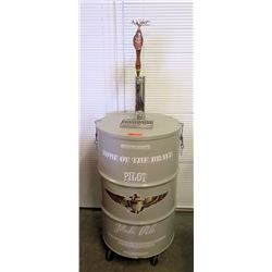 """Home of the Brave Beverage Company"" Pilot Pale Ale Drum & Draft Beer Dispenser"