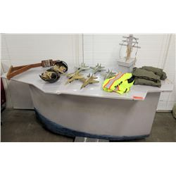 Custom (Invented by Owner) Tailhook Fighter Jet Bar Game, 8' x 3' Signed by Pearl Harbor Survivor (s
