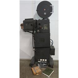 Bausch & Lomb Optical Co 35mm Movie Projector & Lamps